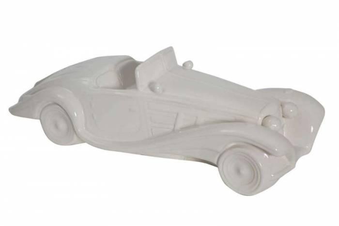 Machetă auto Jami, 13x43x16 cm, ceramica, alb