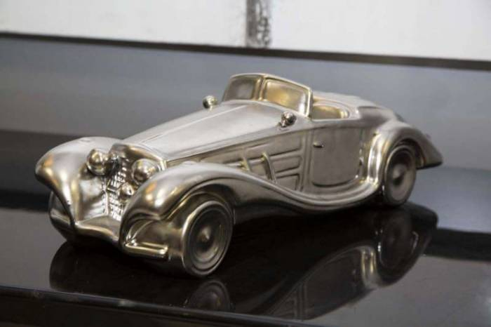 Machetă auto Jami, 13x43x16 cm, ceramica, argintiu