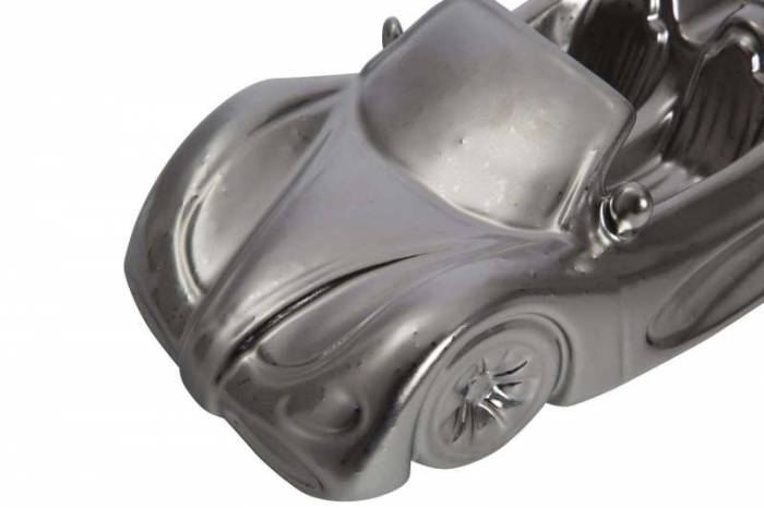Machetă auto Karl, 9x31.5x14.5 cm, ceramica, argintiu