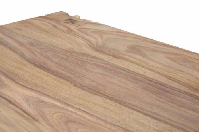 Măsuță de cafea Madge, 45x109x61 cm, lemn de sheesham/ metal, auriu/ maro