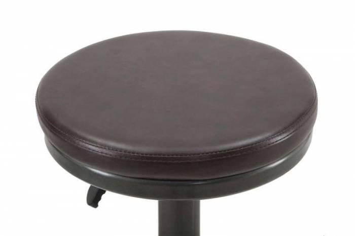Scaun de bar Luka, 60/82x38x38 cm, metal/ pu, maro/ negru/ gri