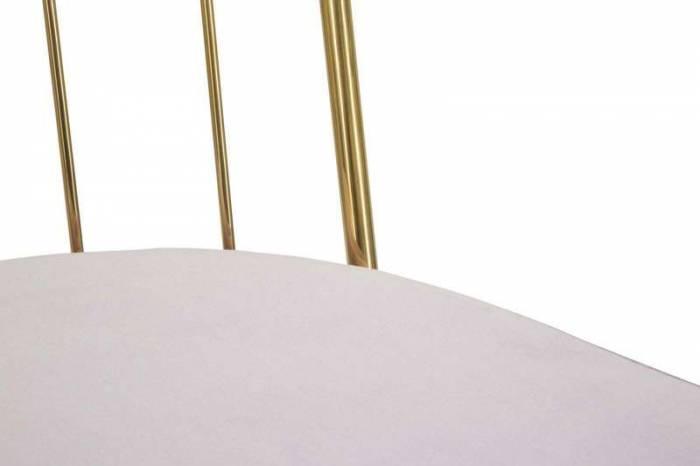 Set 2 scaune Jere, 82x47x56 cm, catifea/ mdf/ spuma, roz/ auriu