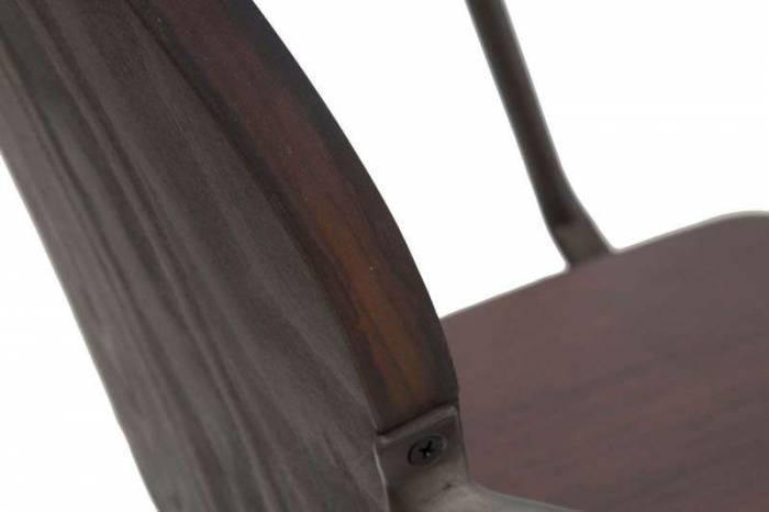 Set 2 scaune living Jeremy, 83x54x51 cm, metal/ lemn de pin, maro/ negru/ gri