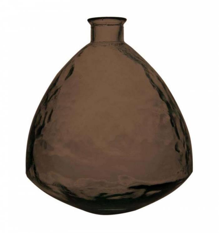 Vază decorativă Ade, 44x38x38 cm, sticla, negru