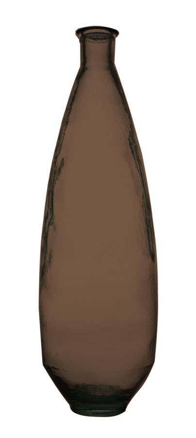 Vază decorativă Ade, 80x26x26 cm, sticla, gri