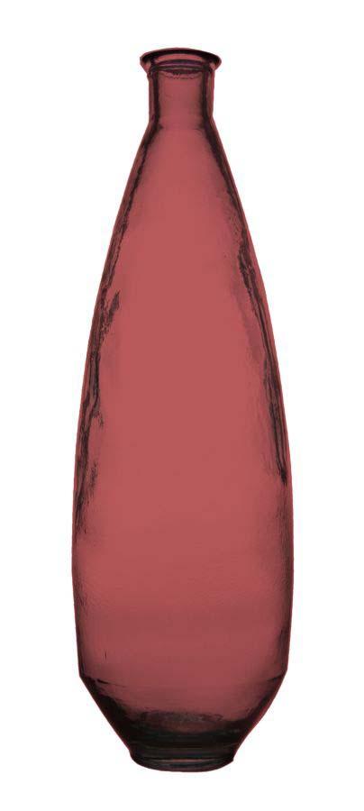 Vază decorativă Ade, 80x26x26 cm, sticla, roz