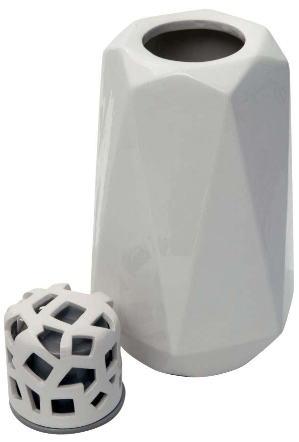 Vază decorativă Alyssa, 26x12.5x11.5 cm, ceramica, alb