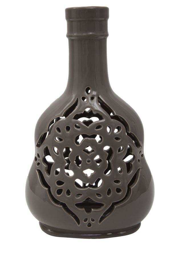 Vază decorativă Amie, 27x16.5x11 cm, portelan, gri