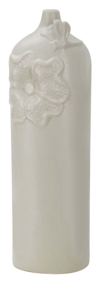 Vază decorativă Amina, 47.5x15x13 cm, portelan, gri