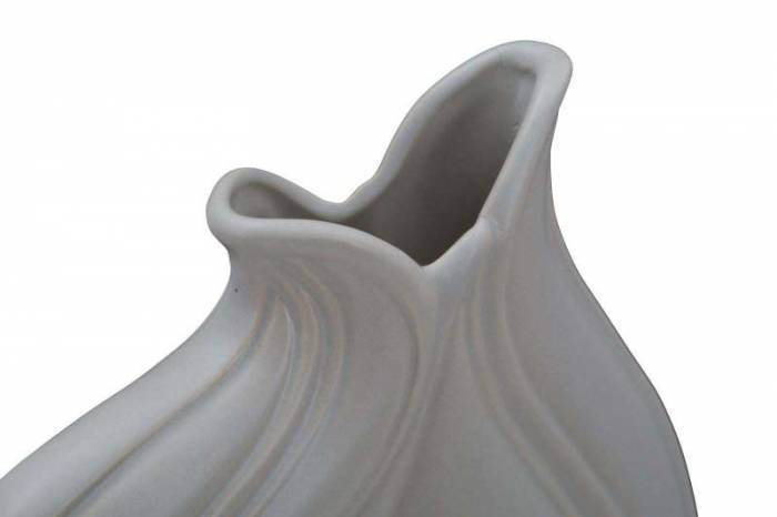 Vază decorativă Amira, 25.5x22x9 cm, portelan, gri