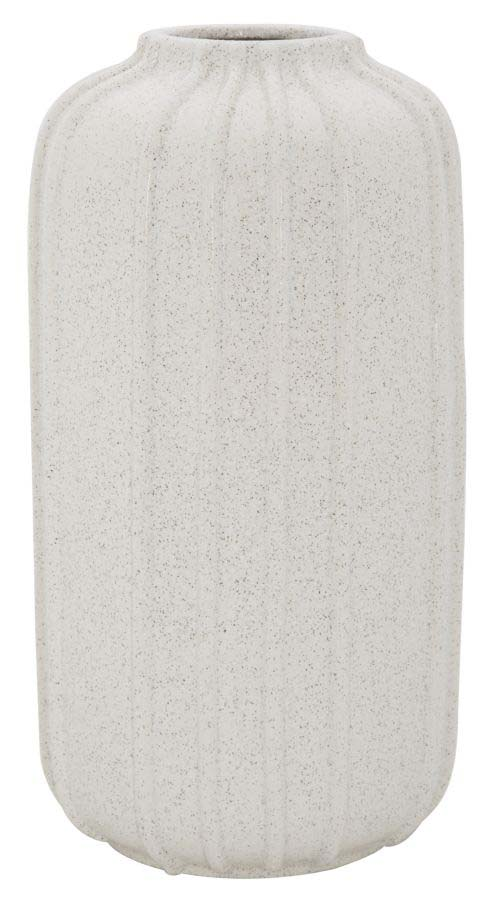 Vază decorativă Ana, 43.5x23.5x23.5 cm, ceramica, alb/ gri