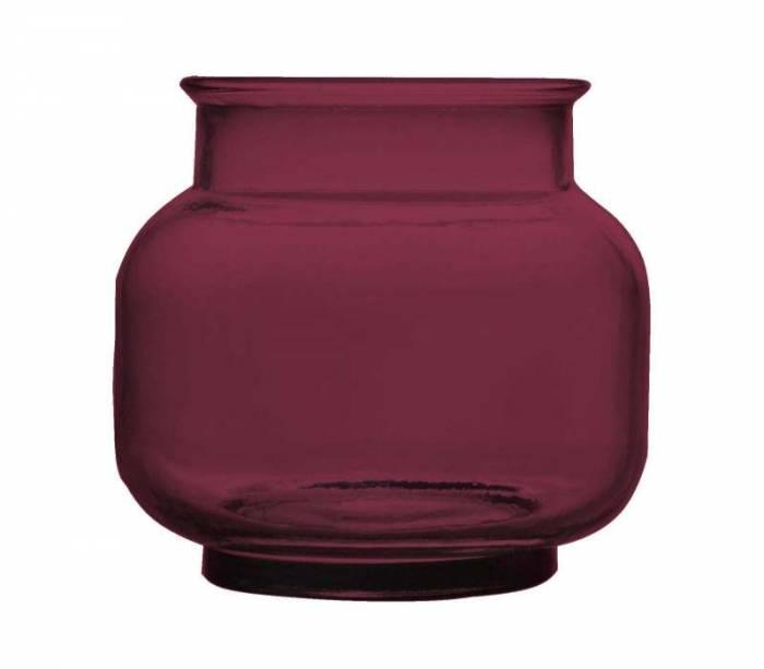 Vază decorativă Becky, 18x20x20 cm, sticla, mov
