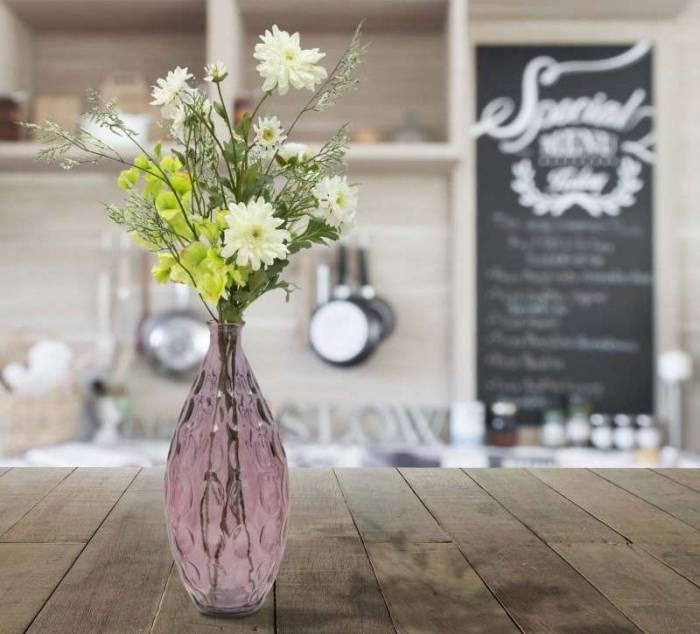 Vază decorativă Billy, 38x15,5x15,5 cm, sticla, roz