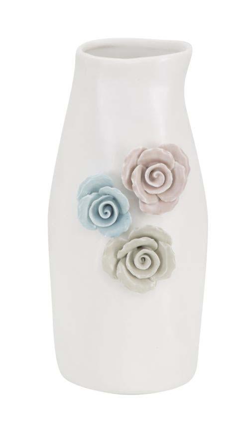 Vază decorativă Flower, 23x12x11 cm, portelan, alb
