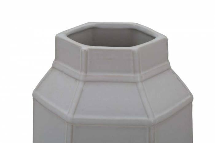 Vază decorativă Lumi, 31x16x12 cm, portelan, alb