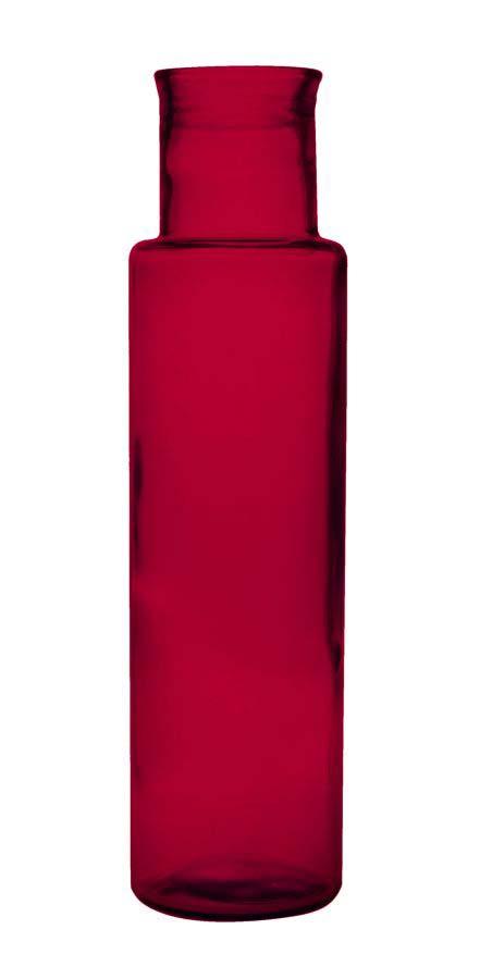 Vază decorativă Medusa M, 55x15x15 cm, sticla, rosu