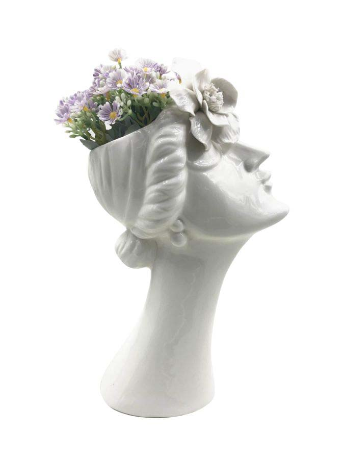 Vază decorativă Purity, 32,8x19x13,6 cm, portelan, alb