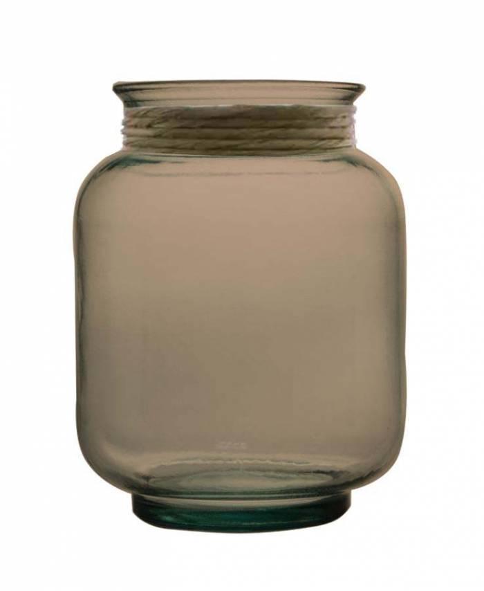 Vază decorativă Rosary, 25x20x20 cm, sticla, gri