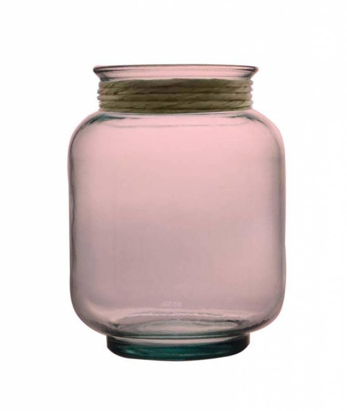 Vază decorativă Rosary, 25x20x20 cm, sticla, roz