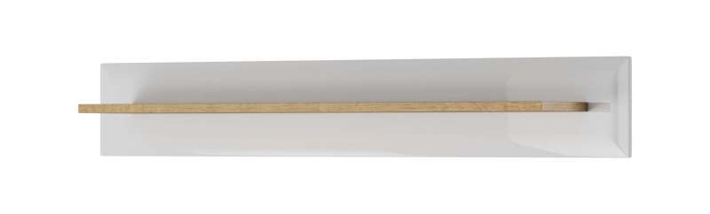 Etajeră Alix, 17x107x19 cm, pal/ mdf/ lemn de stejar, maro/ alb poza