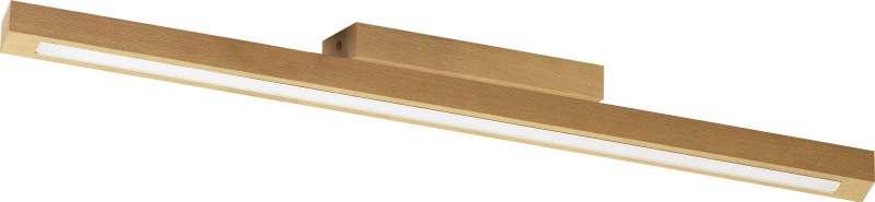 Plafonieră cu led Sharla, 5x66x5,5 cm, cherestea/ lemn, pin poza