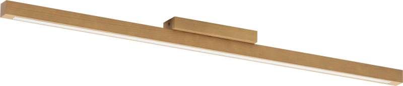 Plafonieră cu led Sharla, 5x96x5,5 cm, cherestea/ lemn, pin poza