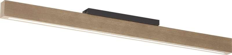 Plafonieră cu led Sonny, 8,5x96x4 cm, cherestea/ metal/ lemn, negru poza