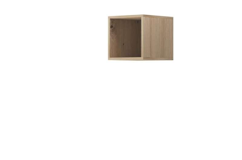 Raft cubic Curtis, 30x30x35 cm, pal, maro poza
