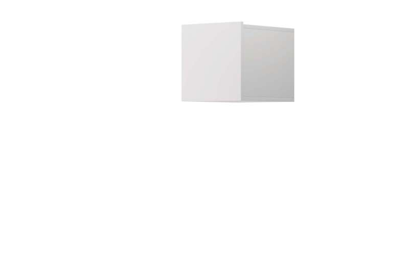 Raft cubic Curtis, 31x30x37 cm, pal, alb poza
