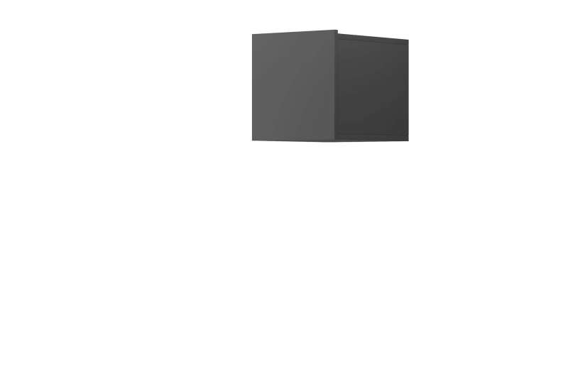 Raft cubic Curtis, 31x30x37 cm, pal, gri poza