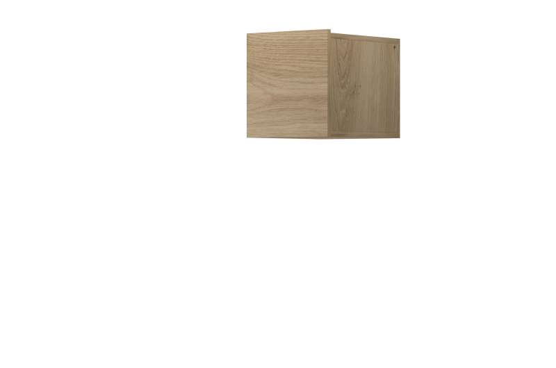 Raft cubic Curtis, 31x30x37 cm, pal, maro poza
