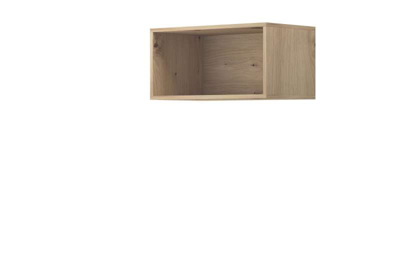 Raft dreptunghiular Curtis, 30x60x35 cm, pal, maro poza