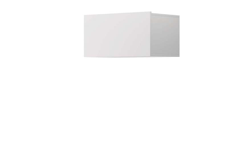Raft dreptunghiular Curtis, 31x60x37 cm, pal, alb poza