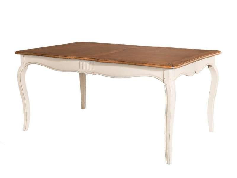Masă living Albertine, 77x168x103 cm, lemn de mesteacan, ivoire poza
