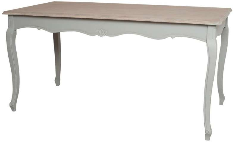 Masă living în stil clasic Gina , 80x160x80 cm, lemn de plop/ mdf, gri/ maro deschis poza
