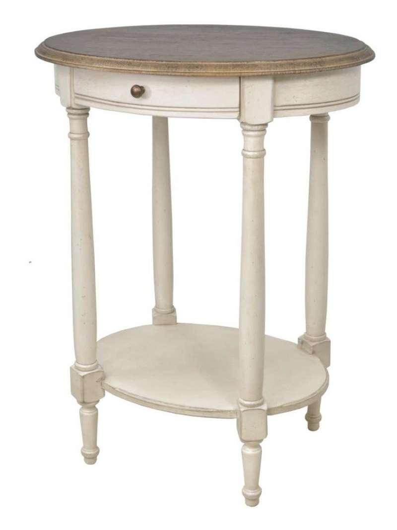 Măsuță de cafea cu sertar Ebonie, 71x54x43 cm, lemn de arbore de cauciuc/ furnir/ metal, ivoire/ maro poza