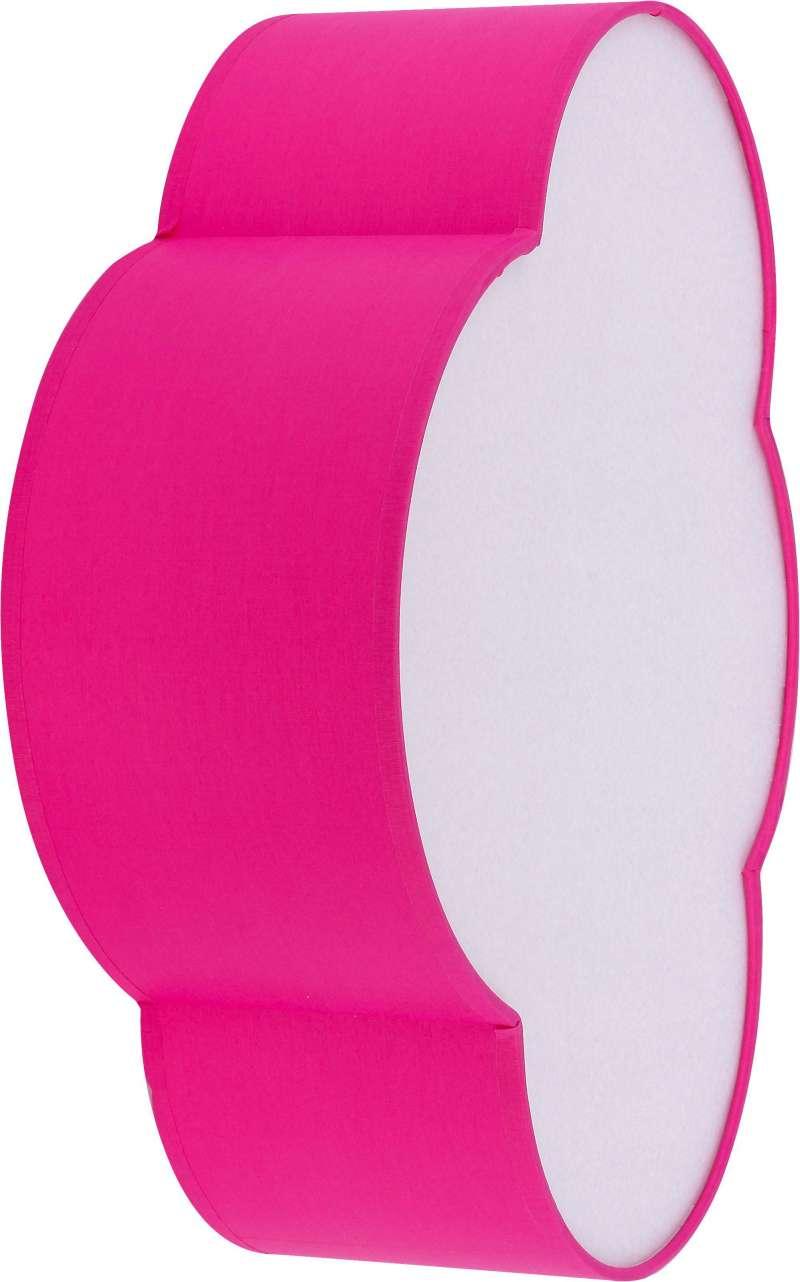 Plafonieră norișor Tera, 13x41x31 cm, metal, roz/ alb poza