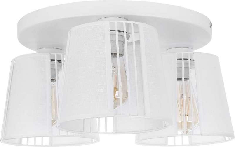 Plafonieră rotundă cu trei becuri Vicky, 21x46x46 cm, metal, alb poza