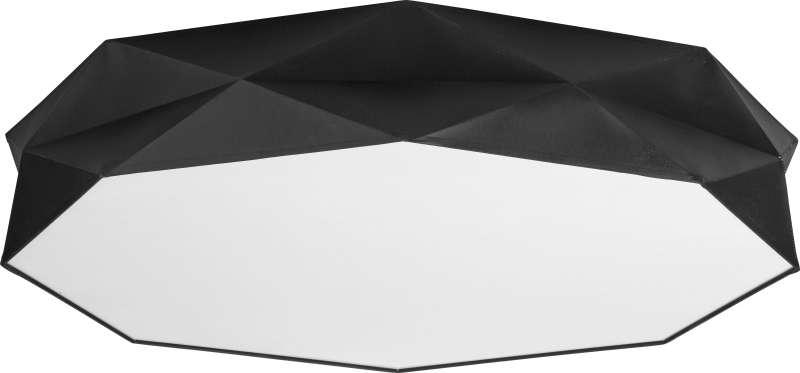 Plafonieră Tatiana, 15,5x88x88 cm, metal, negru/ alb poza