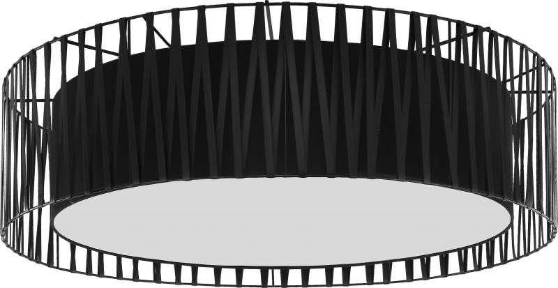 Plafonieră Teofila, 20x72x72 cm, metal, negru poza