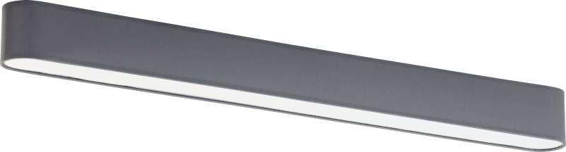Plafonieră Terri, 8x103x9 cm, metal, grafit/ alb poza