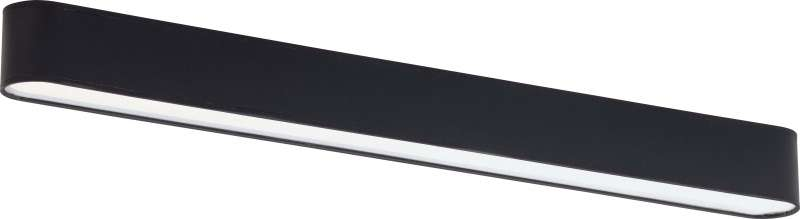Plafonieră Terri, 8x103x9 cm, metal, negru/ alb poza