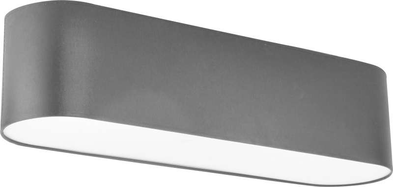 Plafonieră Voncile, 20x80x21 cm, metal, grafit/ alb poza