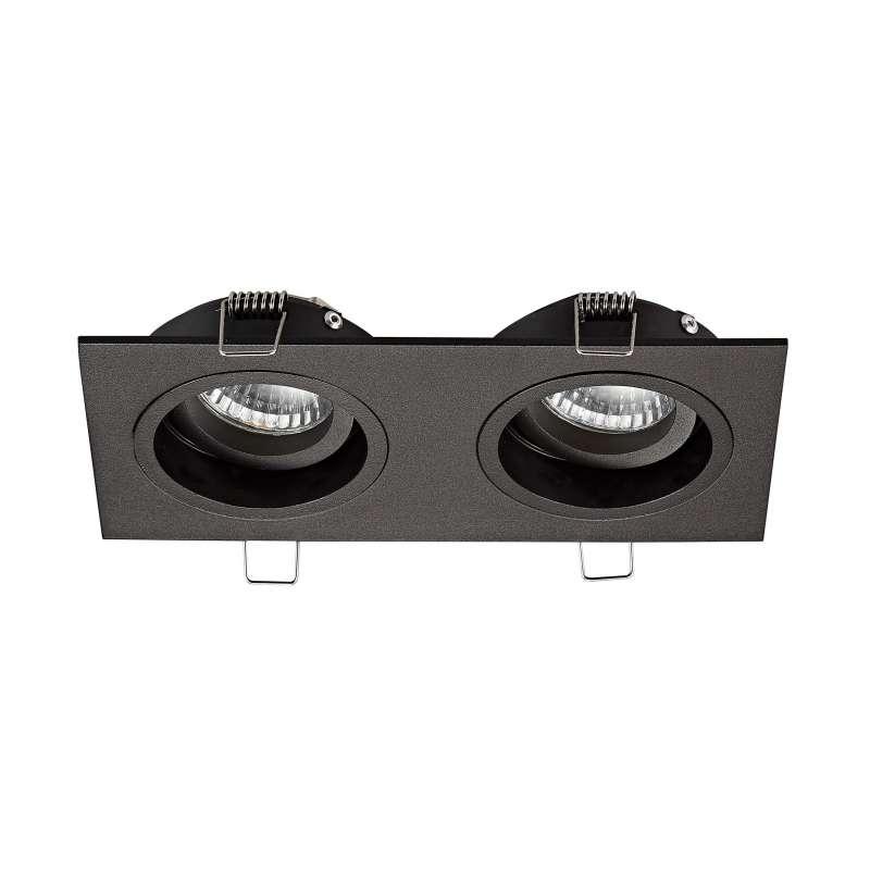 Spot dublu Modesto, 3,8x19x9,2 cm, aluminiu, negru poza