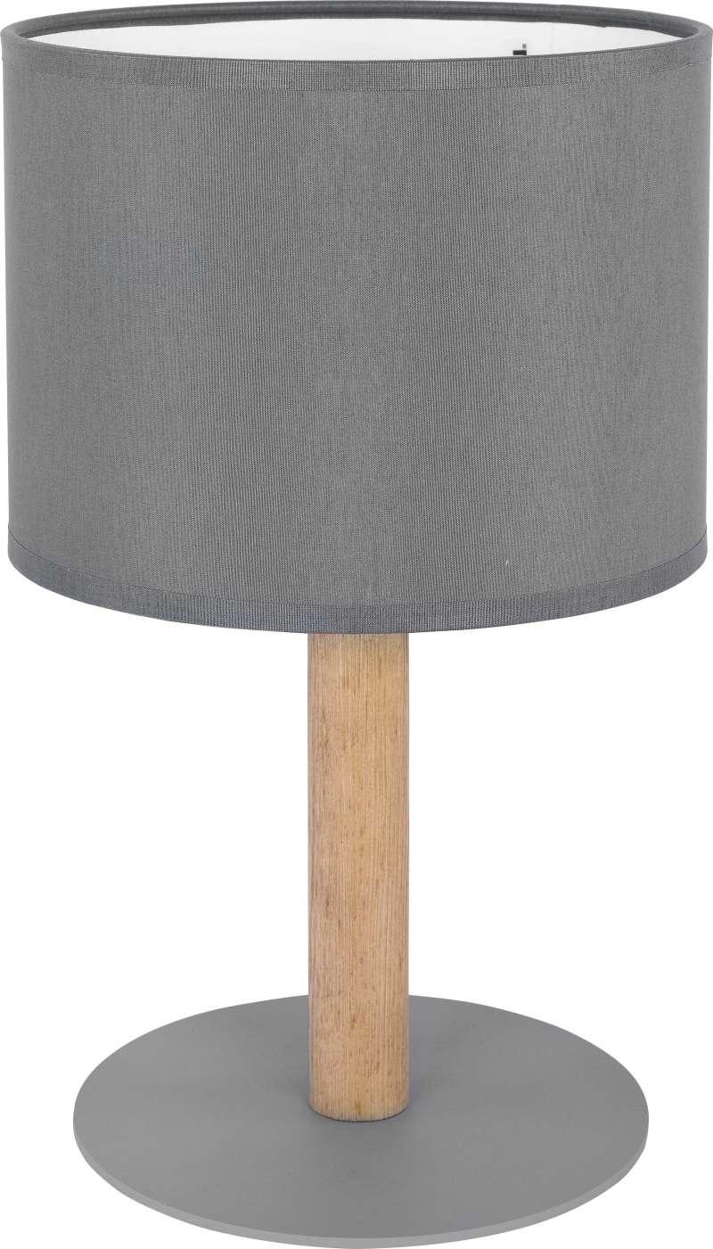 Veioză Toshiko, 34,5x18x18 cm, lemn/ metal, grafit/ pin