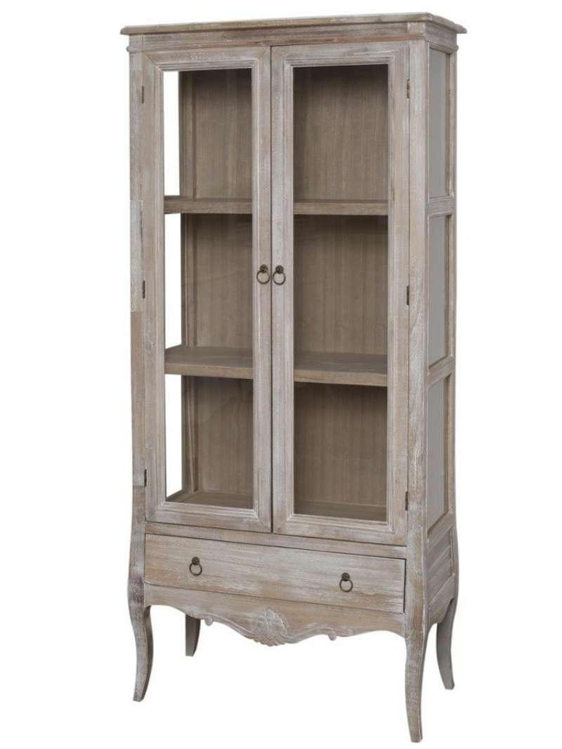 Vitrină cu sertar și două uși Gilbert , 160x76x35 cm, lemn de plop/ mdf/ furnir/ metal, maro deschis poza