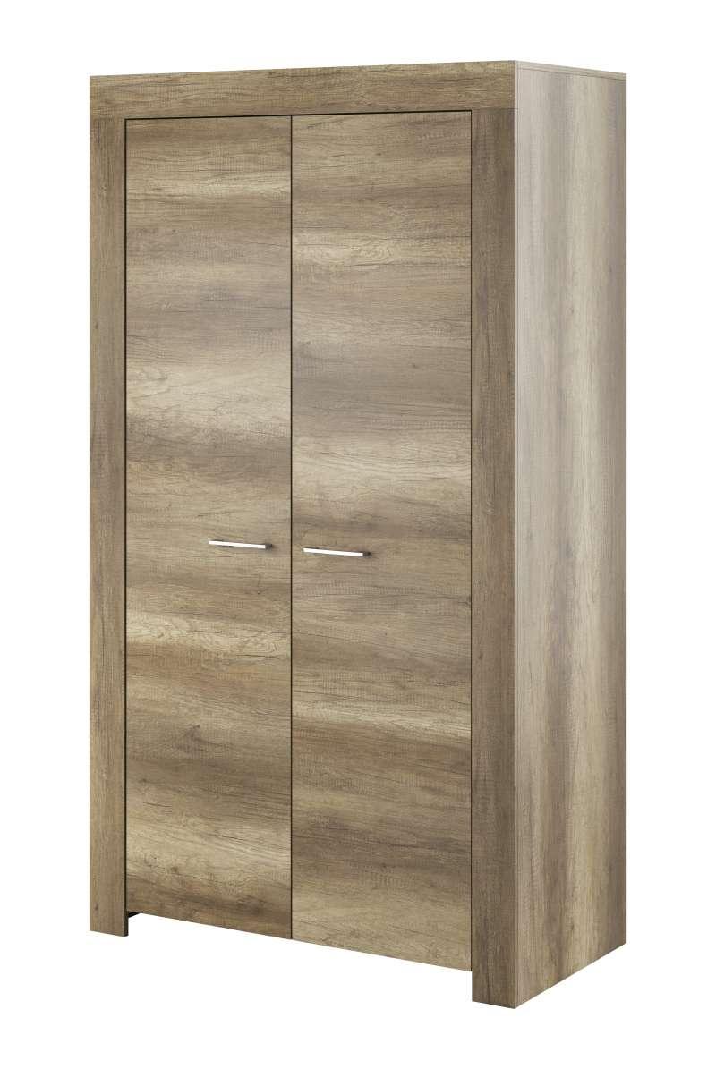 Șifonier cu uși Iraida, 197x110x54 cm, pal/ plastic, gri poza