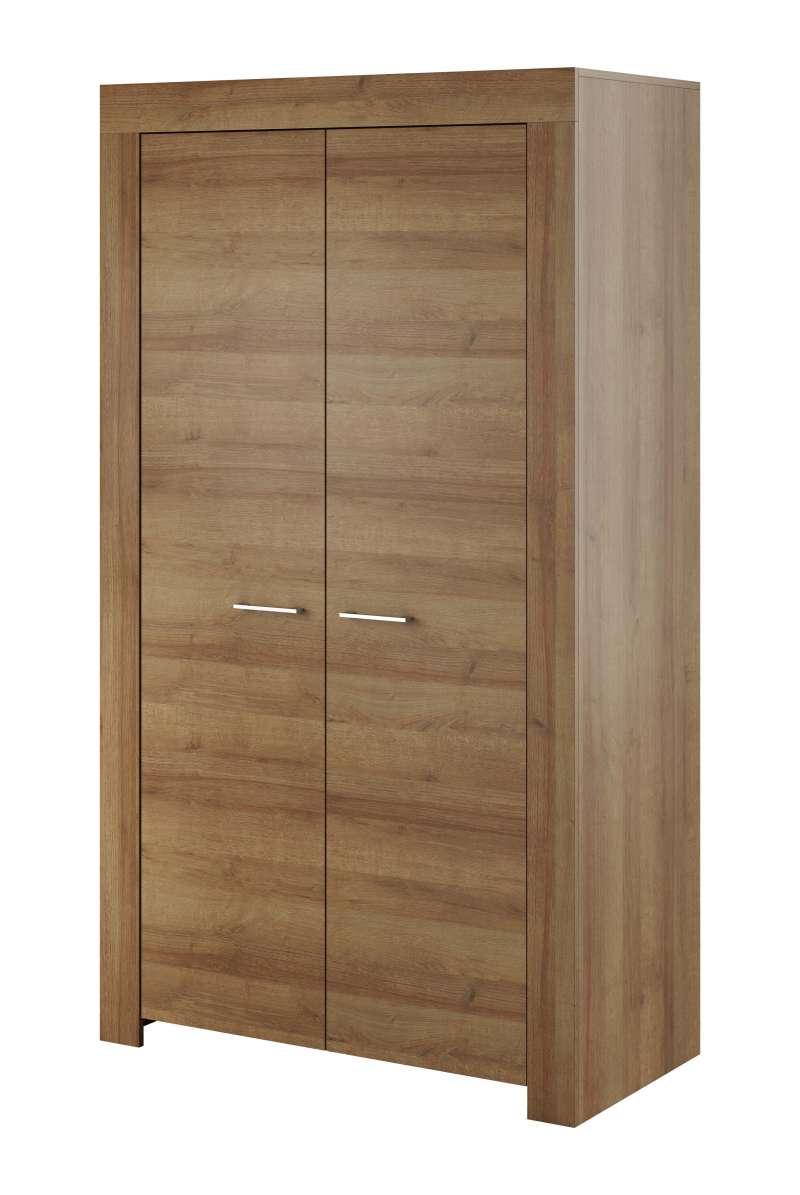 Șifonier cu uși Iraida, 197x110x54 cm, pal/ plastic, maro poza