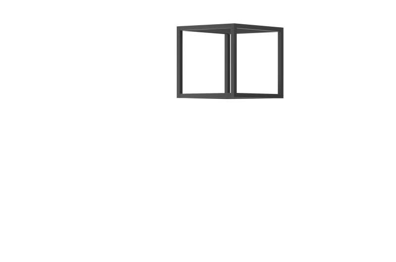 Suport pentru rafturi Curtis, 30x30x35 cm, pal/ metal, gri poza