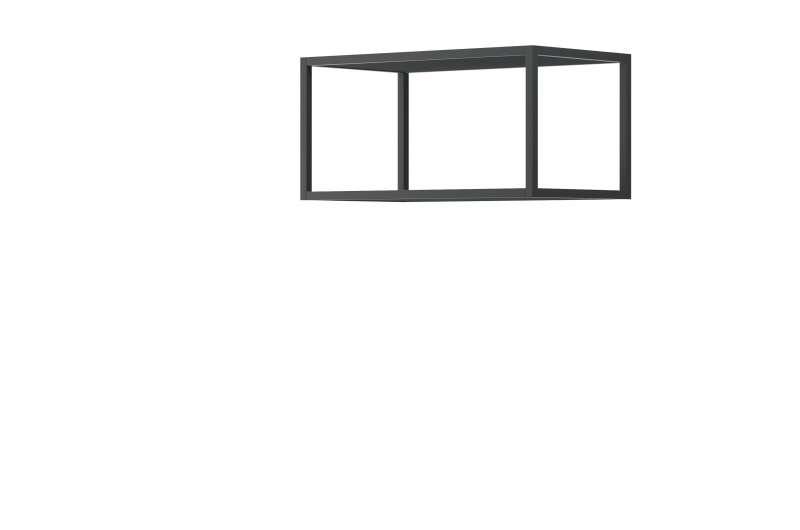 Suport pentru rafturi Curtis, 30x60x35 cm, pal/ metal, gri poza